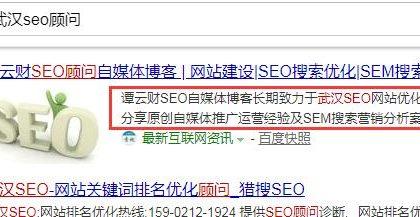 谭云财:网站description标签优化对网站排名起作用吗